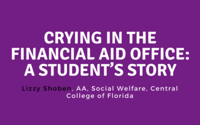 Crying in the Financial Aid Office: A Student's Story