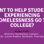 Want to Help Students Experiencing Homelessness Go to College? Take Them There.