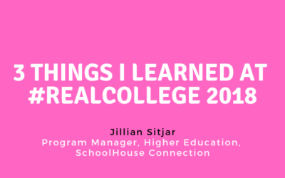 3 Things I Learned at RealCollege