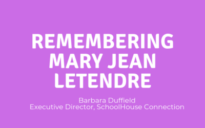 Remembering Mary Jean LeTendre
