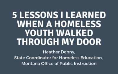 5 Lessons I Learned When A Homeless Youth Walked Through My Door
